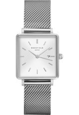 Montre Montre Femme The Boxy - White Sunray/Silver QWSS-Q02 - Rosefield