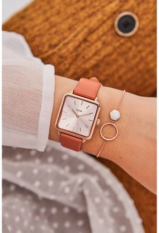 Montre Montre Femme La Tétragone - Rose Gold /Butterscotch CL60010 - Cluse - Vue 4
