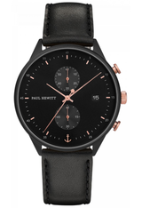 Montre Montre Homme Chrono Line - Black Sunray/Rose Gold  PH-C-B-BSR-2M - Paul Hewitt
