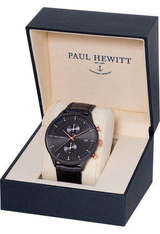 Montre Montre Homme Chrono Line - Black Sunray/Rose Gold  PH-C-B-BSR-2M - Paul Hewitt - Vue 3