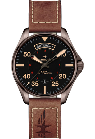 Montre Montre Homme Khaki Aviation Day Date Auto H64605531 - Hamilton - Vue 0