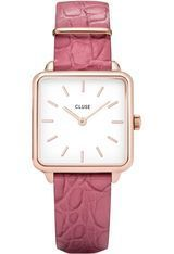 Montre Montre Femme La Tétragone Rose Gold White/Soft Berry Alligator CL60020 - Cluse