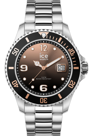 Montre Montre Homme ICE steel Black Sunset Silver M 016768 - Ice-Watch - Vue 0
