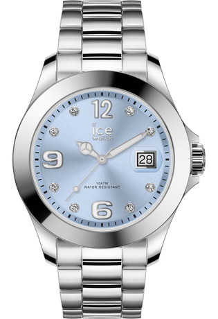 Montre Montre Femme ICE steel classic Light Blue Silver Stones M 016775 - Ice-Watch