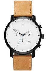 Montre Montre Homme Chrono Series - White Black Tan D-MC01-WBTL - MVMT