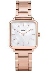 Montre Montre Femme La Tétragone - Three Link/Rose Gold/White Pearl CL60027S - Cluse