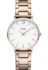 Montre Montre Femme Minuit - 3-Link Rose Gold/White/Rose Gold CW0101203027 - Cluse