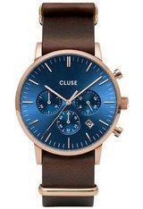 Montre Montre Homme Aravis Chrono Nato Leather CW0101502008 - Cluse