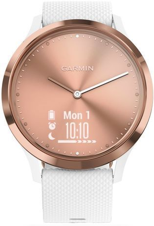 Montre Montre Femme Coffret montre Vívomove HR Blanche Rose Gold x Bougie/Bijou My Jolie Candle 020-00255-03 - Garmin - Vue 1