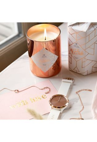 Montre Montre Femme Coffret montre Vívomove HR Blanche Rose Gold x Bougie/Bijou My Jolie Candle 020-00255-03 - Garmin - Vue 2