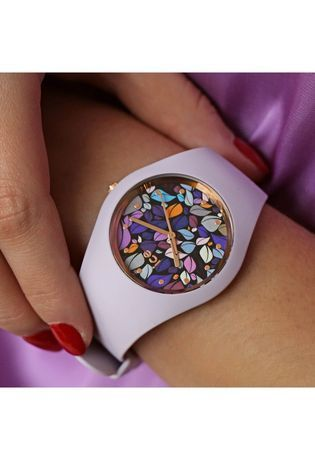Montre Montre Femme ICE flower - Lilac Petals M 017580 - Ice-Watch - Vue 2
