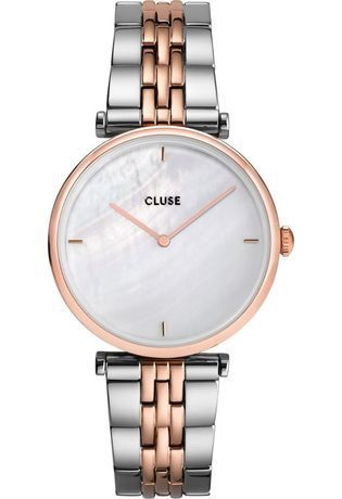 Montre Montre Femme Triomphe - Steel Rose Gold White Pearl CW0101208015 - Cluse - Vue 0