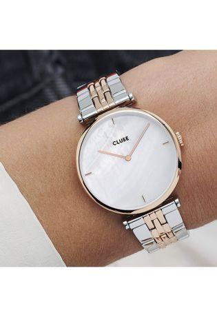 Montre Montre Femme Triomphe - Steel Rose Gold White Pearl CW0101208015 - Cluse - Vue 3