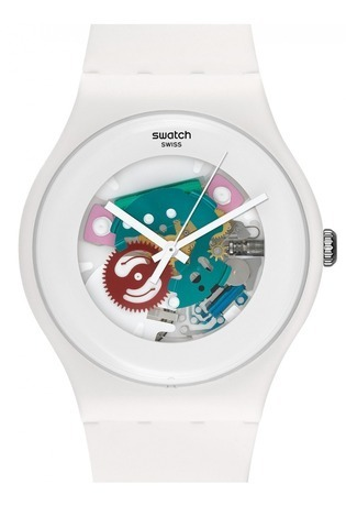 Montre Montre Femme, Homme White Lacquered SUOW100 - Swatch - Vue 1